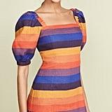 Farm Rio Rainbow Puff Sleeve Dress