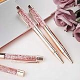 Rose Gold Glitter Ballpoint Pens