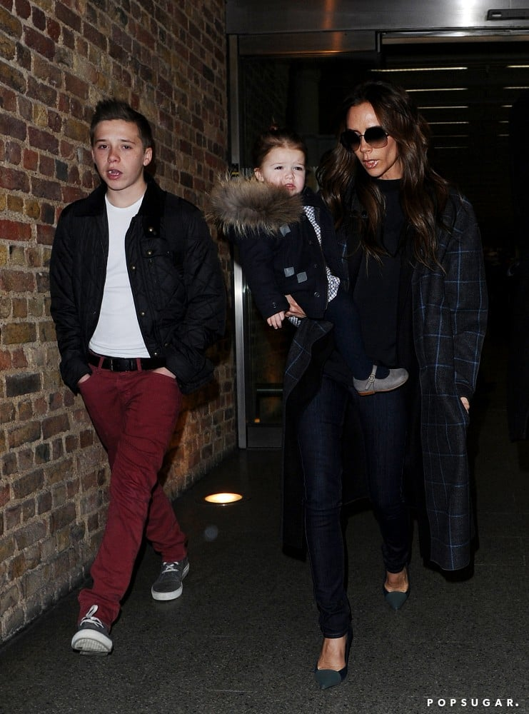 The Beckhams Head Home From a Family Stay in Paris