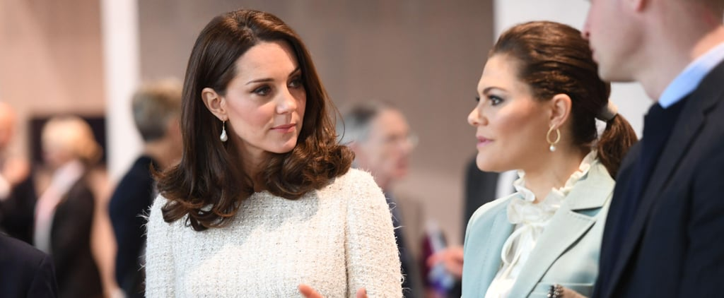 Kate Middleton Had a Beautiful Tweed Dress Hiding Underneath Her Coat