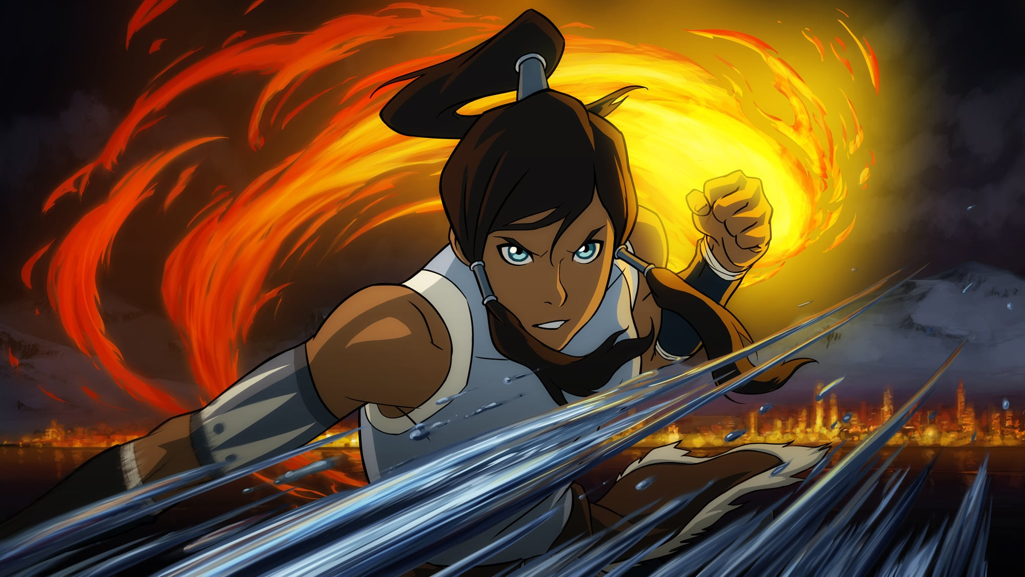 THE LEGEND OF KORRA, Korra, (Season 1, 2012). Nickelodeon / Courtesy: Everett Collection