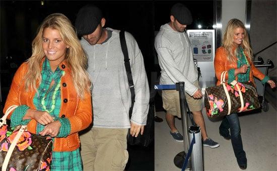 Photos of Jessica Simpson and Tony Romo at LAX