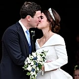 When Jack and Eugenie Shared Their First Kiss as a Married Couple