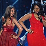 """Beyoncé and Jennifer Hudson performed """"Love You I Do"""" from Dreamgirls."""
