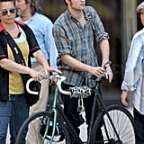 Photos of Robert Pattinson on a Bike