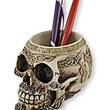 Celtic Knot Skull Pen Holder ($14)