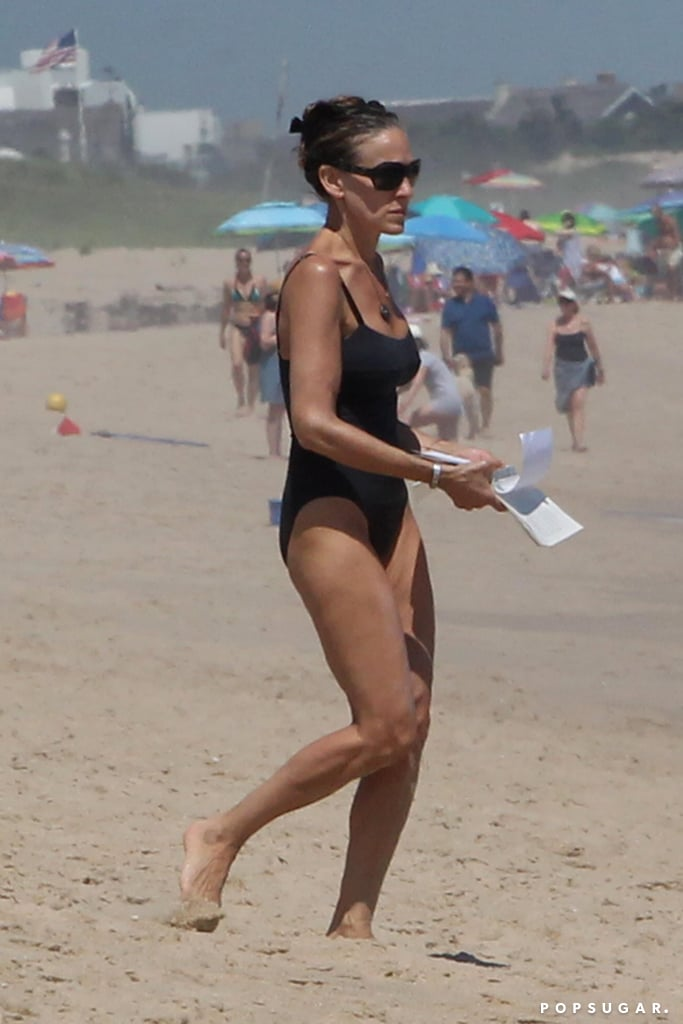 """Sarah Jessica Parker rang in her 53rd birthday back in March, and in case you were wondering, she's definitely still got it. On Saturday, the actress got a head start on her Fourth of July festivities when she hit the beach in Montauk, NY. Clad in a black one-piece, Sarah looked incredible as she walked along the sand and read a book by the ocean. We wonder if she was reading Fatima Farheen Mirza's A Place For Us?  A Place For Us is the first novel from Sarah's new imprint, SJP For Hogarth, and tells the story of a Muslim Indian-American family of five, who is torn between the traditional and modern worlds. Just last week, the book became a New York Times bestseller and Sarah celebrated on Instagram by thanking her fans. """"Your enthusiasm, embrace and support of Ms. Mirza's debut novel and knowing it is resonating with so many readers is so meaningful and so freaking exciting!"""" Sarah wrote. """"And for all those who have yet to read this extraordinary and unforgettable book, I hope you allow yourself the opportunity. It is indeed a gift for readers and a book for our times."""" Congrats to Sarah!      Related:                                                                                                           Over 20 Years Worth of Sarah Jessica Parker and Matthew Broderick's Big City Love"""