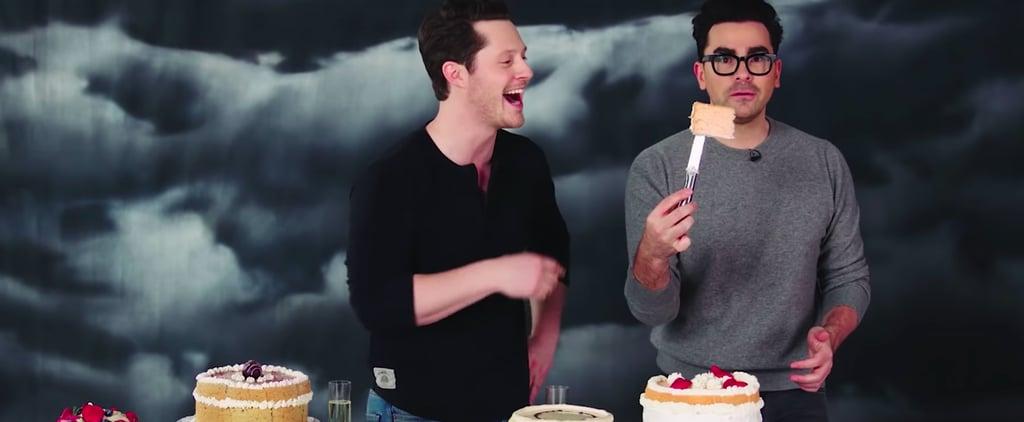 Schitt's Creek's Dan Levy and Noah Reid Try Wedding Cakes