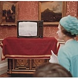 A television inside Buckingham Palace showed the excitement of the crowds outside.