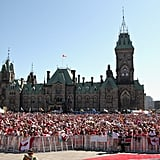 Tons of Canadians came out for the celebrations.