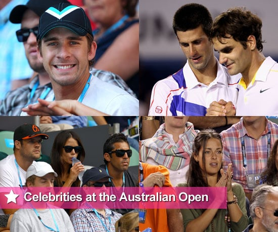 Celebrities at the 2011 Australian Open Including Novak Djokovic, Roger Federer, Jodi Gordon, Erin McNaught, Ana Ivanovic
