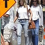 Jennifer Aniston Wearing Dr. Scholl's Sandals
