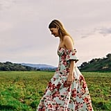 Laura Ashley UO Exclusive Georgia Off-The-Shoulder Midi Dress