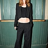 At the New York Burberry Acoustic show, Alana Zimmer gave us another bare-midriff look.