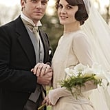 Matthew and Mary are elegant on their wedding day. Source: PBS