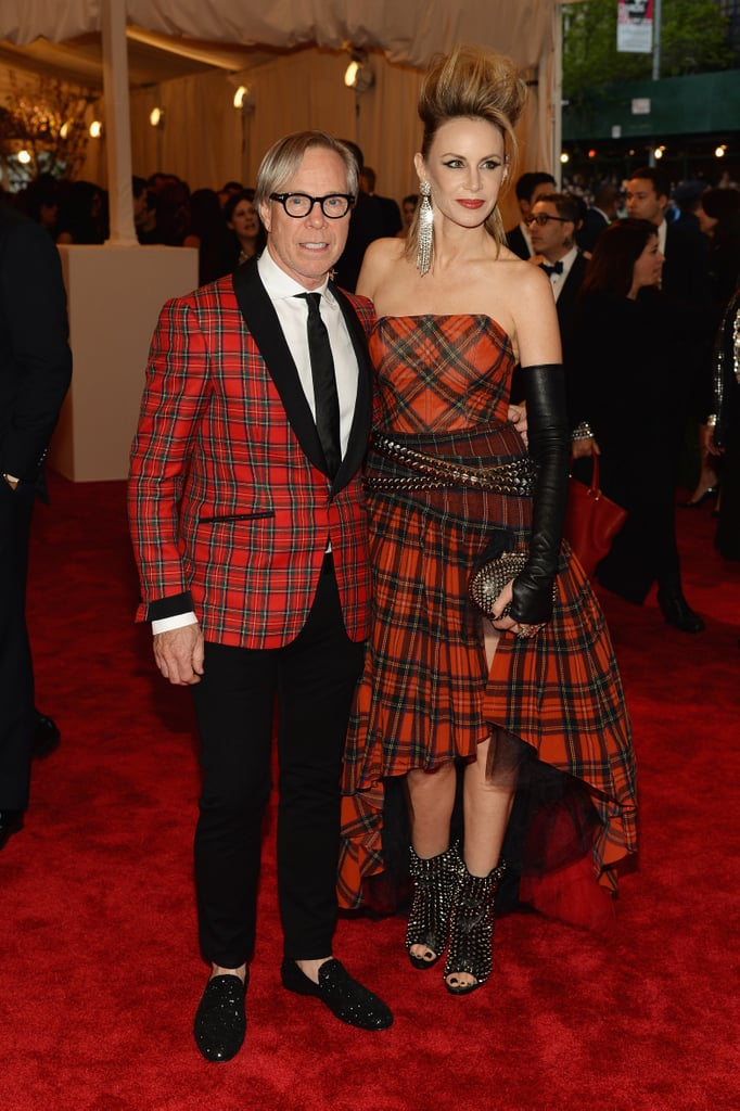 American sportswear king Tommy Hilfiger was a shoo-in when it came to punky plaid. The designer didn't disappoint, outfitting himself and wife Dee in plenty of tartan.