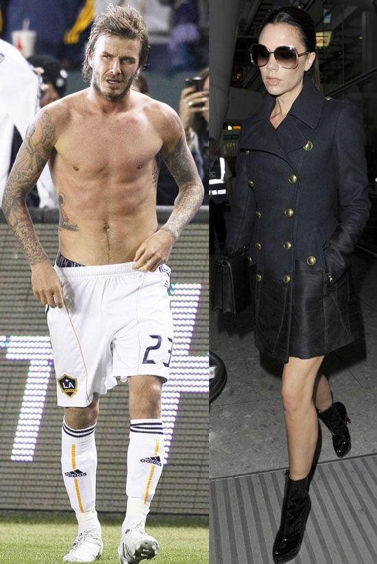 Pictures of David Beckham and Victoria Beckham