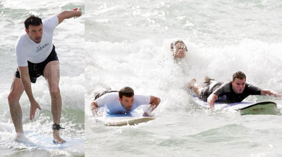 It's Surfs Up On Father's Day For Matt & Ben