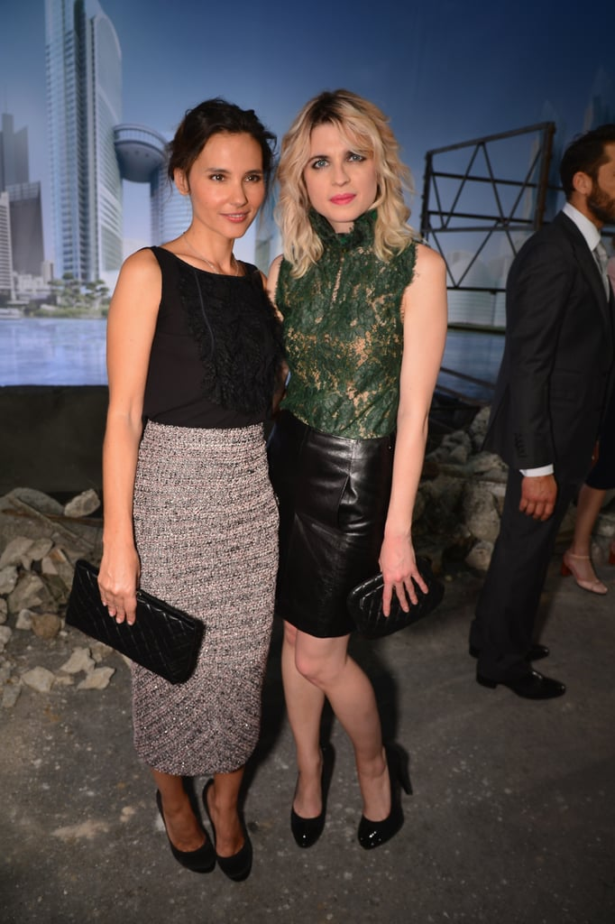 Virginie Ledoyen and Cecile Cassel at the Chanel show.