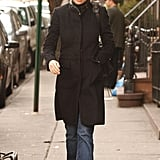Gwyneth Paltrow Wearing a Black Jacket and Sneakers