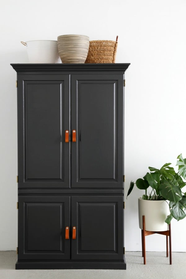 Why you should paint your furniture black popsugar home australia - Armoire furniture ikea ...