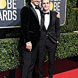 James Franco and Dave Franco at the 2018 Golden Globe Awards