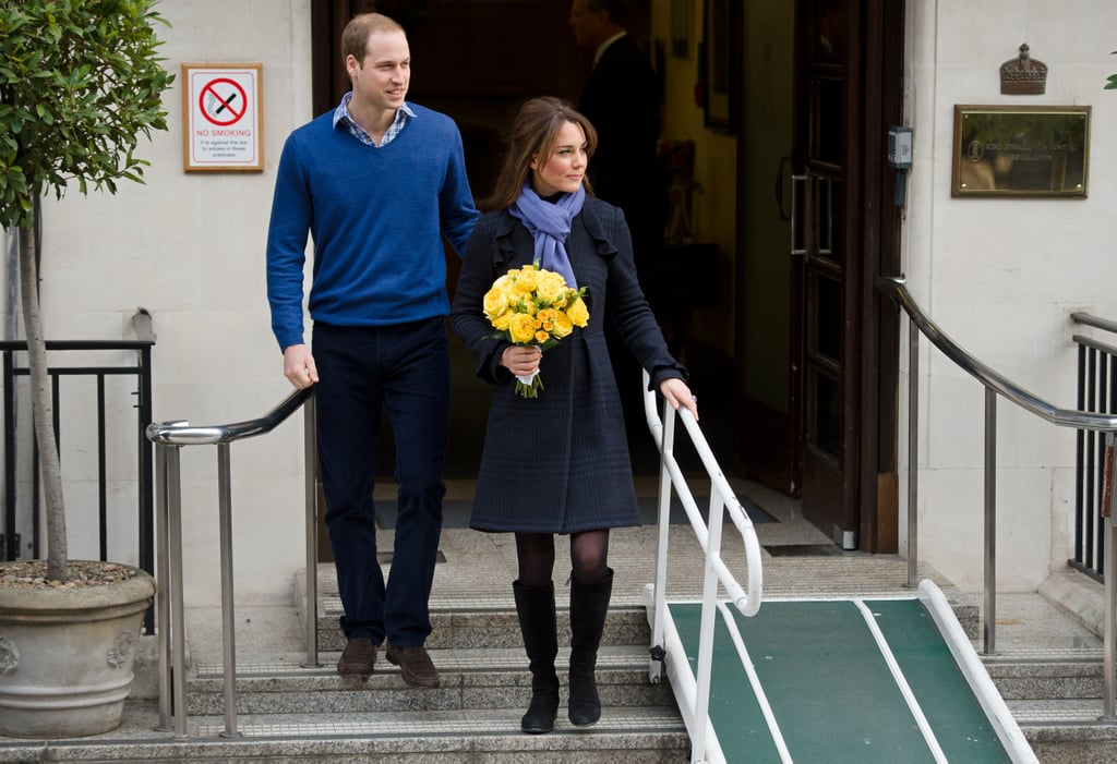 Prince William walked with his wife, Kate Middleton.