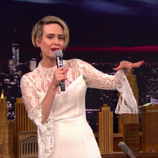 Sarah Paulson Raps on Fallon Video October 2016