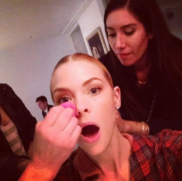 Jaime King caught her beauty team in action. Source: Instagram user jaime_king