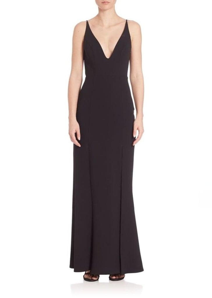 ABS by Allen Schwartz Gown | Kim Kardashian Black Yeezy Dress at ...