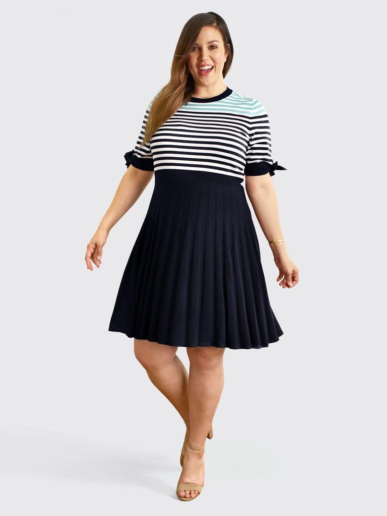 Sailor Stripe Sweater Dress | Draper James Plus Size ...