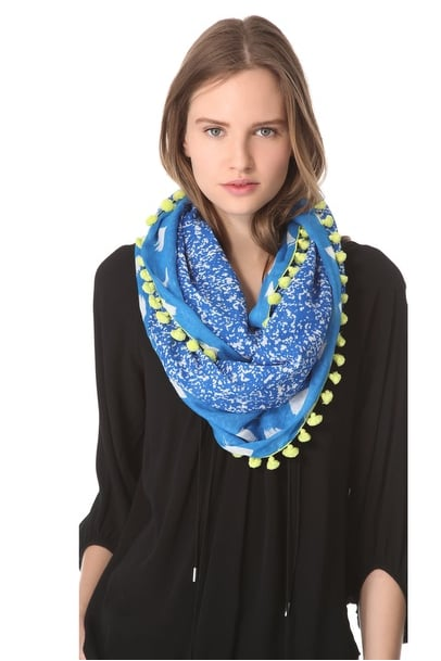 If you're a little more bohemian, the colorful, cool details on DVF's Circle Scarf ($185) deliver just the right amount of outfit whimsy.