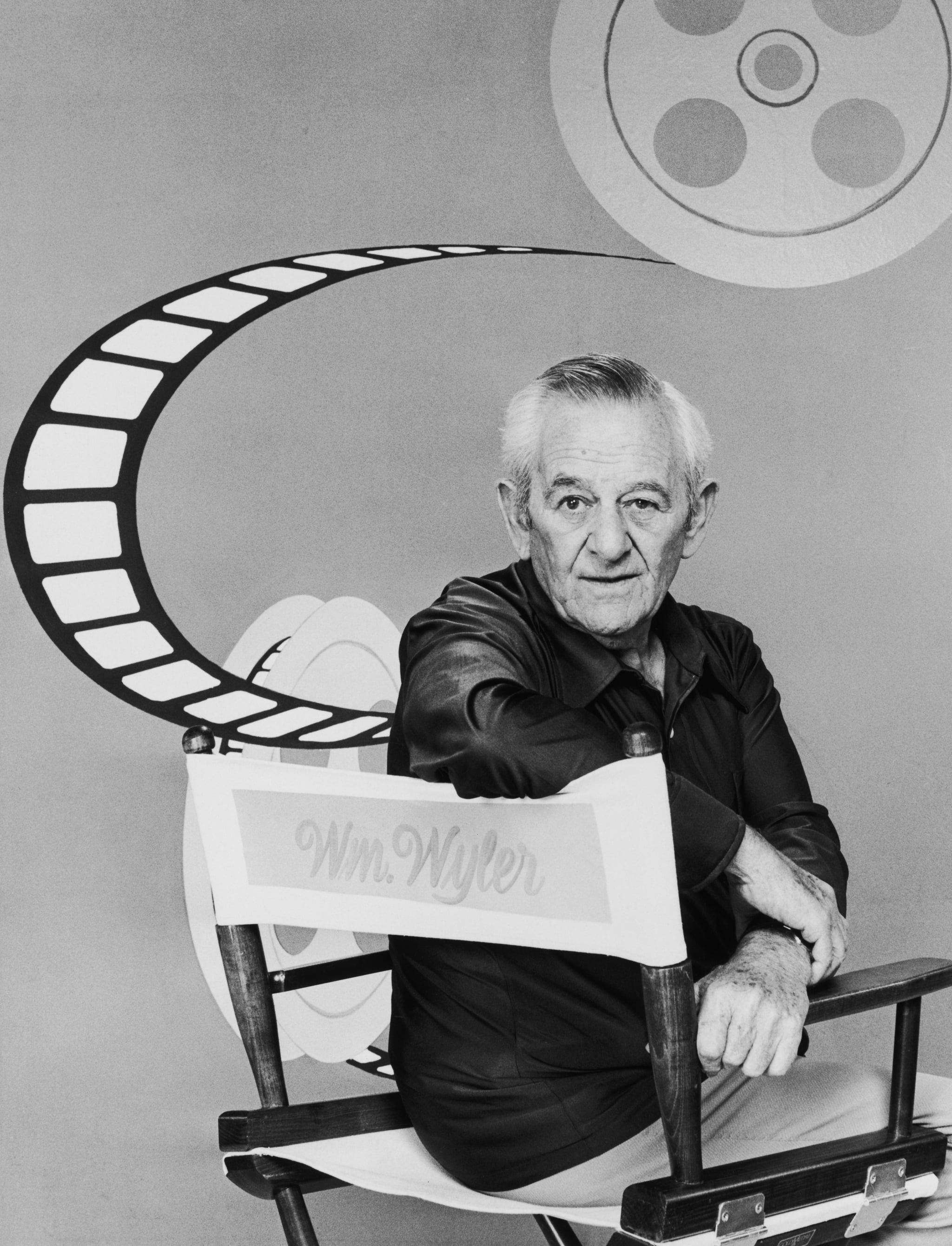 American film director William Wyler (1902 - 1981) sitting in a director's chair, circa 1975. (Photo by Archive Photos/Getty Images)