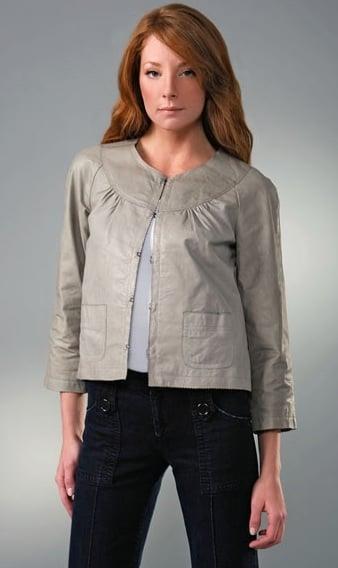 Generra Cropped Leather Jacket