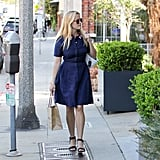 A sweet day dress and sandals while out in LA.