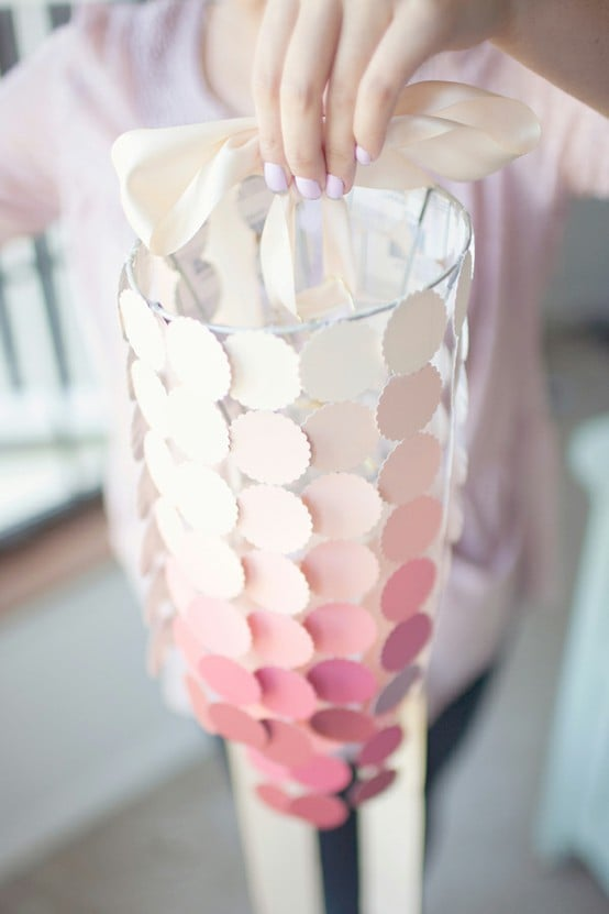 Paint-Chip Chandelier