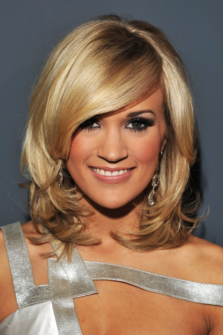 Carrie Underwood's Layered Bob in 2010 | Best Bob Haircuts of the Last Decade | POPSUGAR Beauty ...