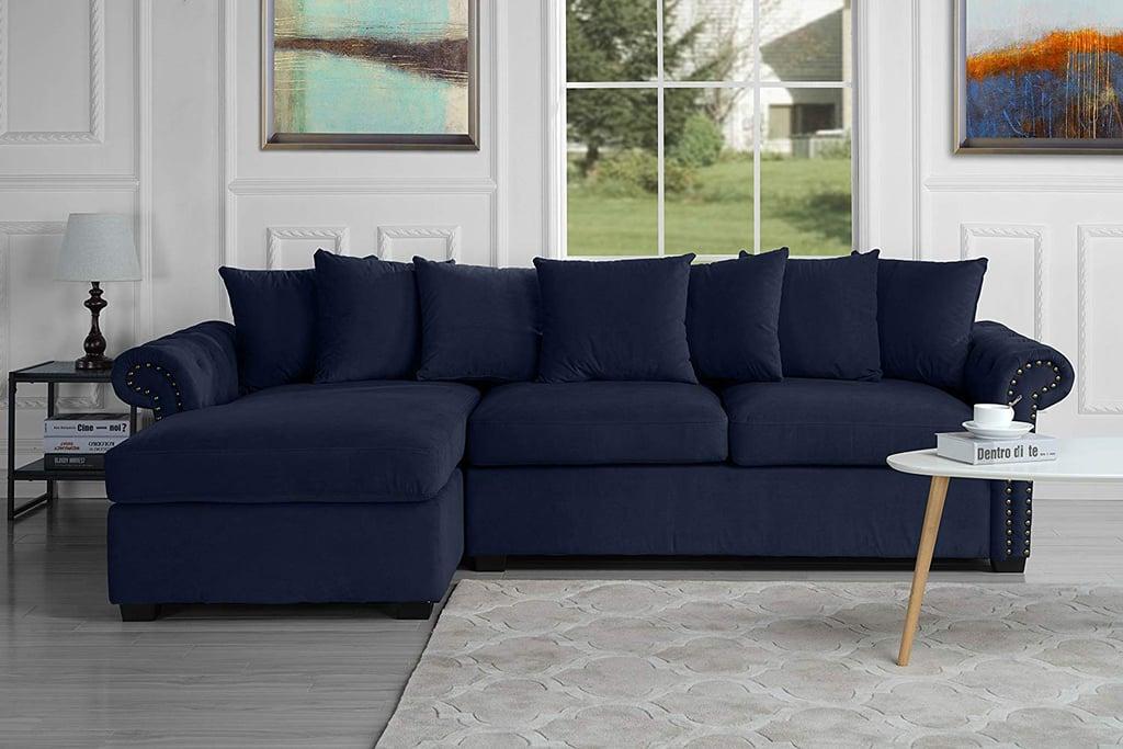 Modern Large Tufted Velvet Sectional Sofa | Best Sectional ...