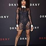 Indya Moore at the DKNY Party During New York Fashion Week
