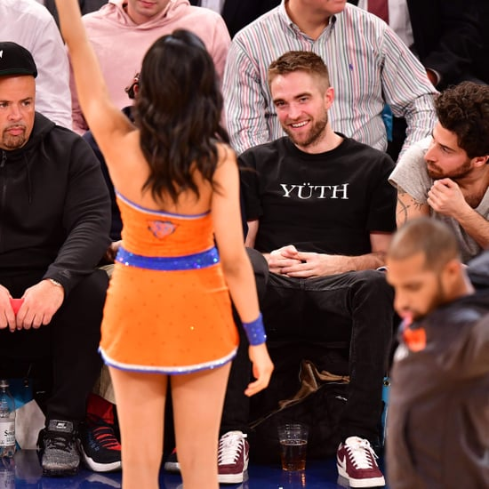 Robert Pattinson Watching Dancers at Knicks Game Nov. 2017