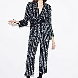 Thakoon Tie Waist Sequin Jacket ($2,900) and Cropped Flare Sequin Pants ($2,350)