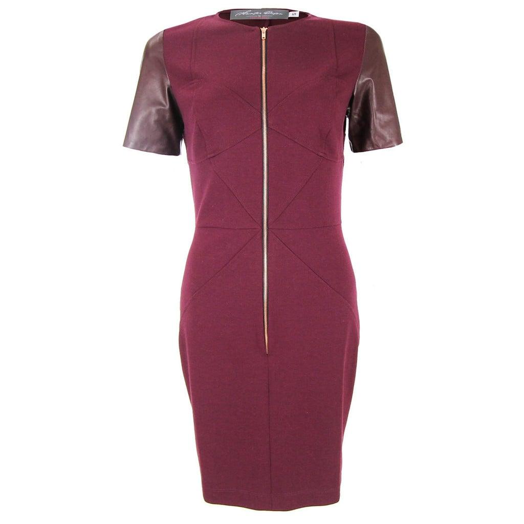 Zipper Front Polly Dress