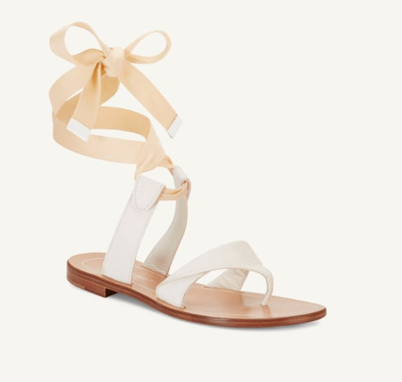 Sarah Flint Grear Sandals in White Vachetta