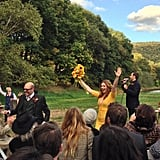 Bride Amber Tamblyn showed her excitement after marrying David Cross in Upstate New York in October.  Source: Instagram user Questlove