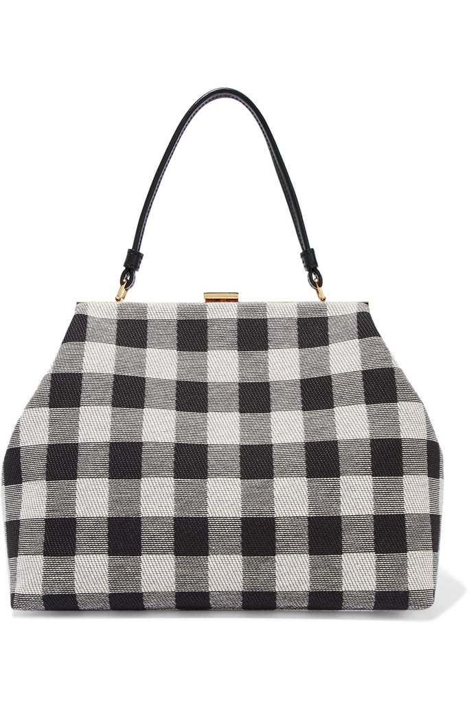 Mansur Gavriel Elegant Checked Canvas Tote