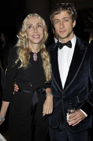 Franca Sozzani and son Francesco Carrozzini.