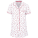 George Flannel Heart Print Pyjama Shorts Set