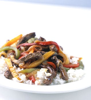 Fast & Easy Recipe For Mixed-Pepper Steak With Onions