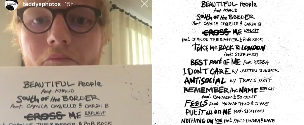 Ed Sheeran Announces No. 6 Collaborations Project Track List