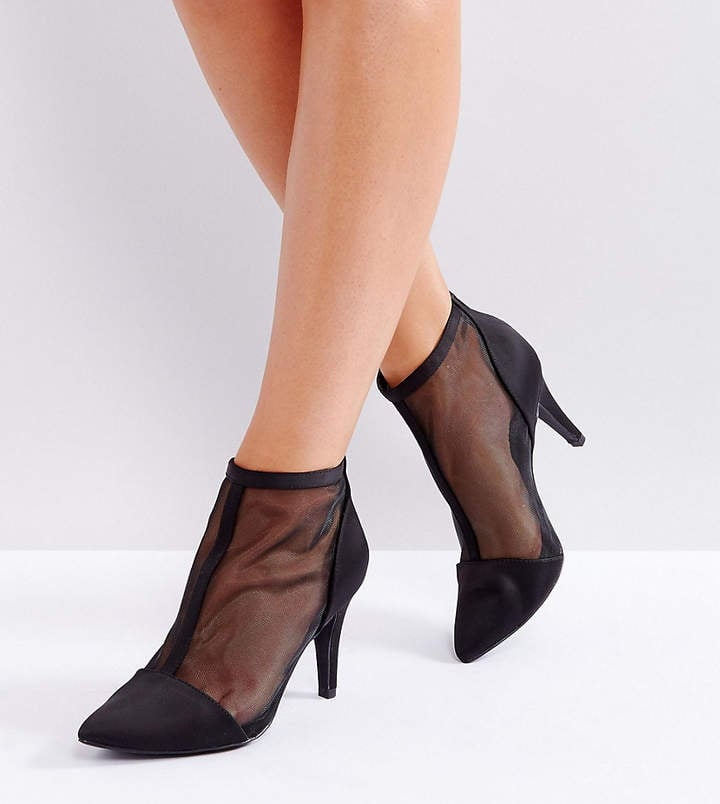 81a761c95e New Look Wide Fit Mesh Heeled Boot